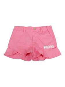 Moschino Kids - Shorts con rouches rosa