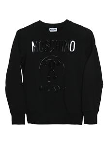 Moschino Kids - Felpa Double Question Mark nera