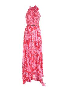 Blumarine - Floral print dress in pink and red