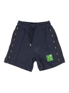 MSGM Kids - Jersey bermuda shorts in blue