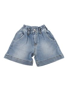 MSGM Kids - Faded denim shorts in blue