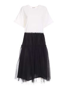 Red Valentino - Jersey dress in black and white
