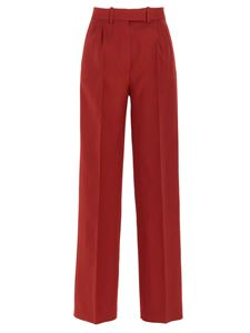 Fendi - High-waisted tailored pants in red