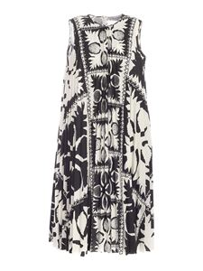 Red Valentino - Printed dress in black and white