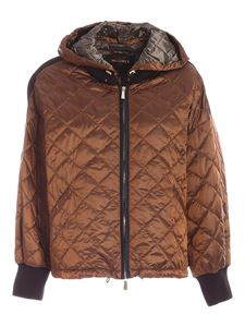 Moorer - Jamila down jacket in brown