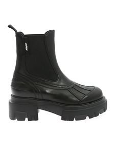 MSGM - Elastic bands boots in black