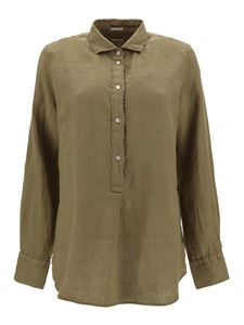 massimo alba - Lola shirt in army green