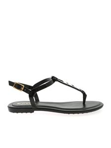 Tod's - Woven detail sandals in black