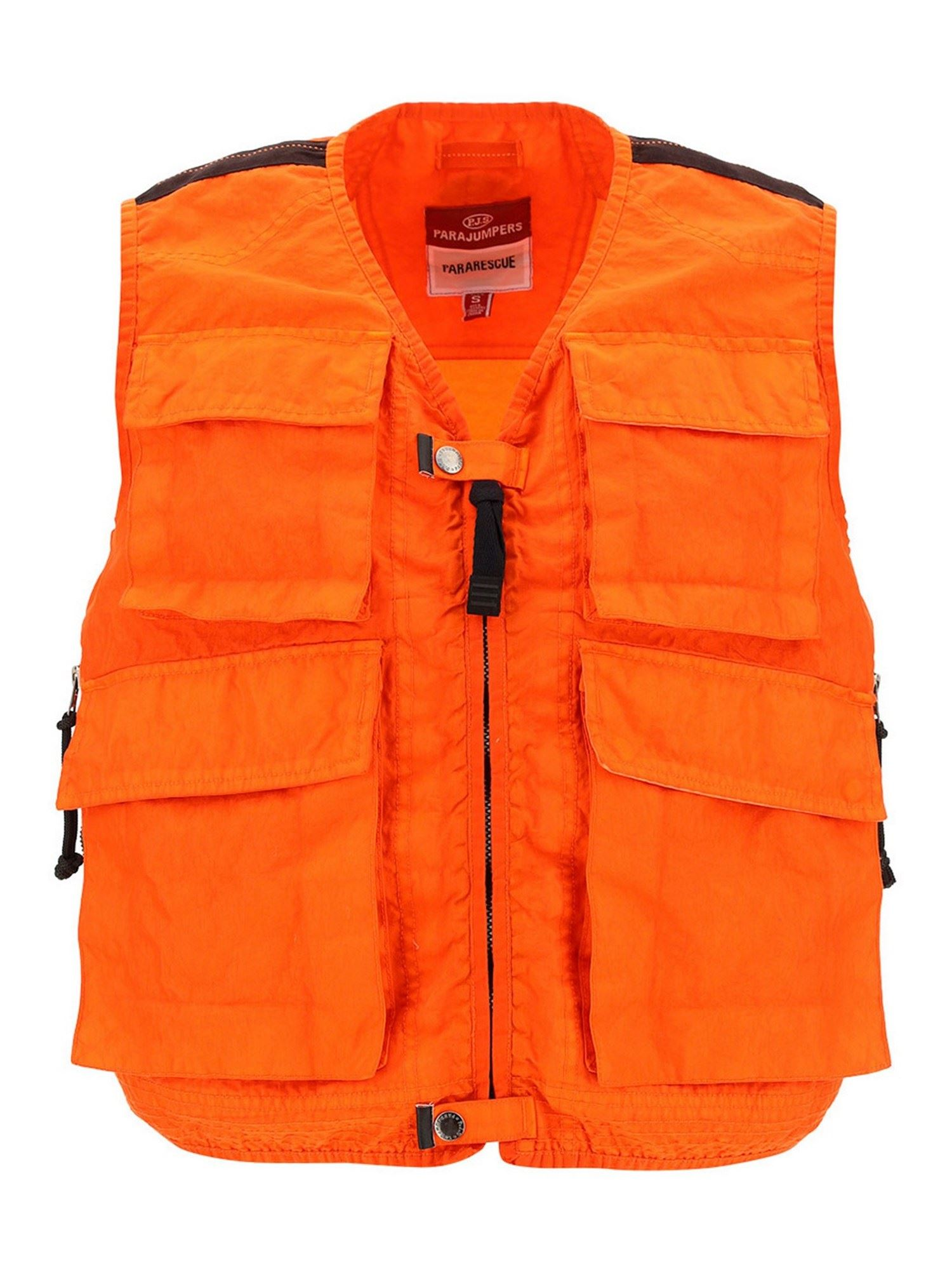 Parajumpers Vests DOLPHIN WAISTCOAT IN CARROT COLOR