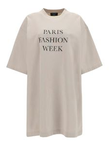 Balenciaga - Printed oversized T-shirt in white