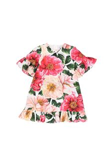 Dolce & Gabbana Jr - Camellias print dress in multicolor