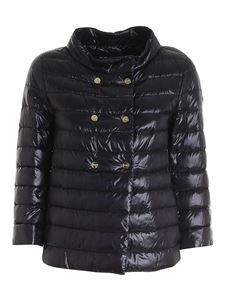 Herno - Double-breasted padded jacket in black