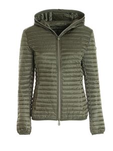 Save the duck - Logo patch puffer jacket in green