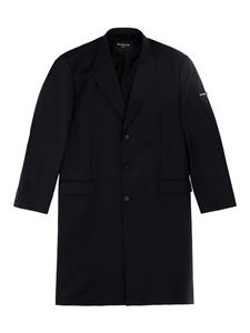 Balenciaga - Biological wool single breasted coat
