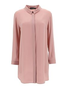 Gianluca Capannolo - Crêpe long-sleeved shirt in pink