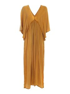Mes Demoiselles - Relaxed fit dress in ocher color