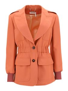 Chloé - Fleece wool blazer in orange