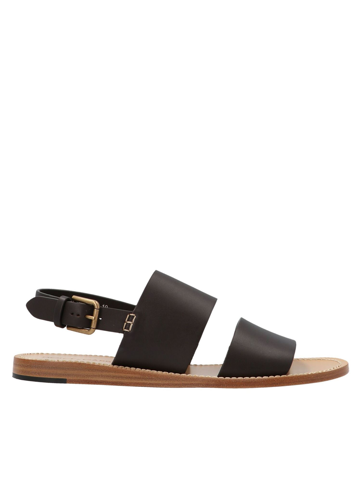 Dolce & Gabbana Leathers PANTHEON SANDALS IN BROWN