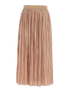 Roberto Collina - Pleated skirt in camel color