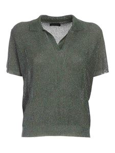 Roberto Collina - Lamé inserts sweater in green