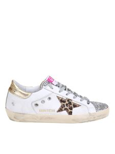 Golden Goose - Superstar sneakers in white and gold