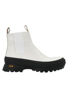 Jil Sander - Vibram box sole ankle boots in white