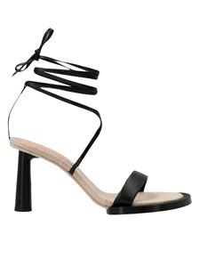 Jacquemus - Les Carrés Ronds sandals in black