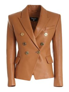 Balmain - Veste double-breasted jacket in brown