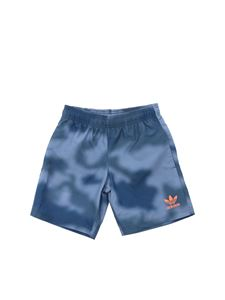 Adidas Originals - Swim trunks in blue melange