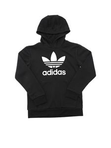 Adidas Originals - Logo print hoodie in black