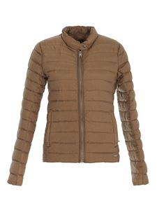 Woolrich - Quilted padded jacket in brown
