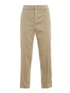 Dondup - Meli linen blend trousers in grey