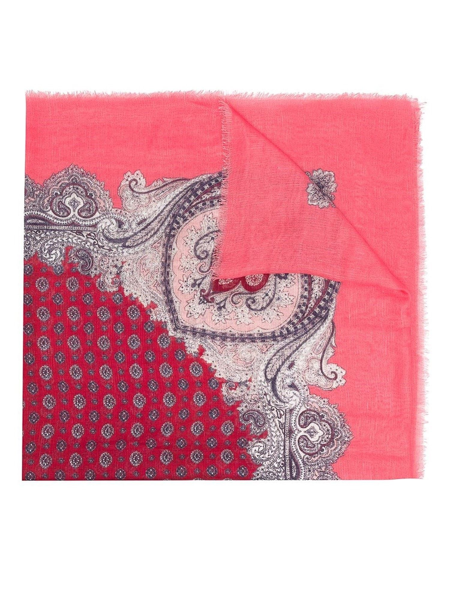 Twinset PAISLEY PRINT SCARF IN ROSA NENO COLOR