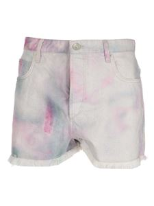 Isabel Marant Étoile - Raw cut denim shorts in multicolor