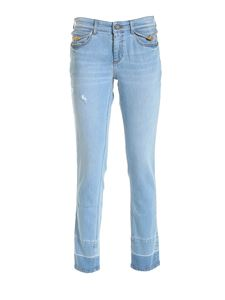 Versace Jeans Couture - Logo label jeans in light blue