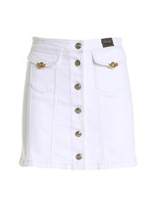 Versace Jeans Couture - Logo label short skirt in white