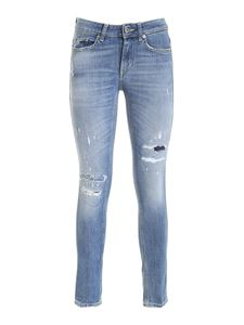 Dondup - Destroyed effect jeans in blue