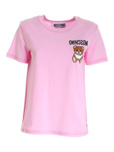 Moschino - Teddy Bear embroidery T-shirt in pink
