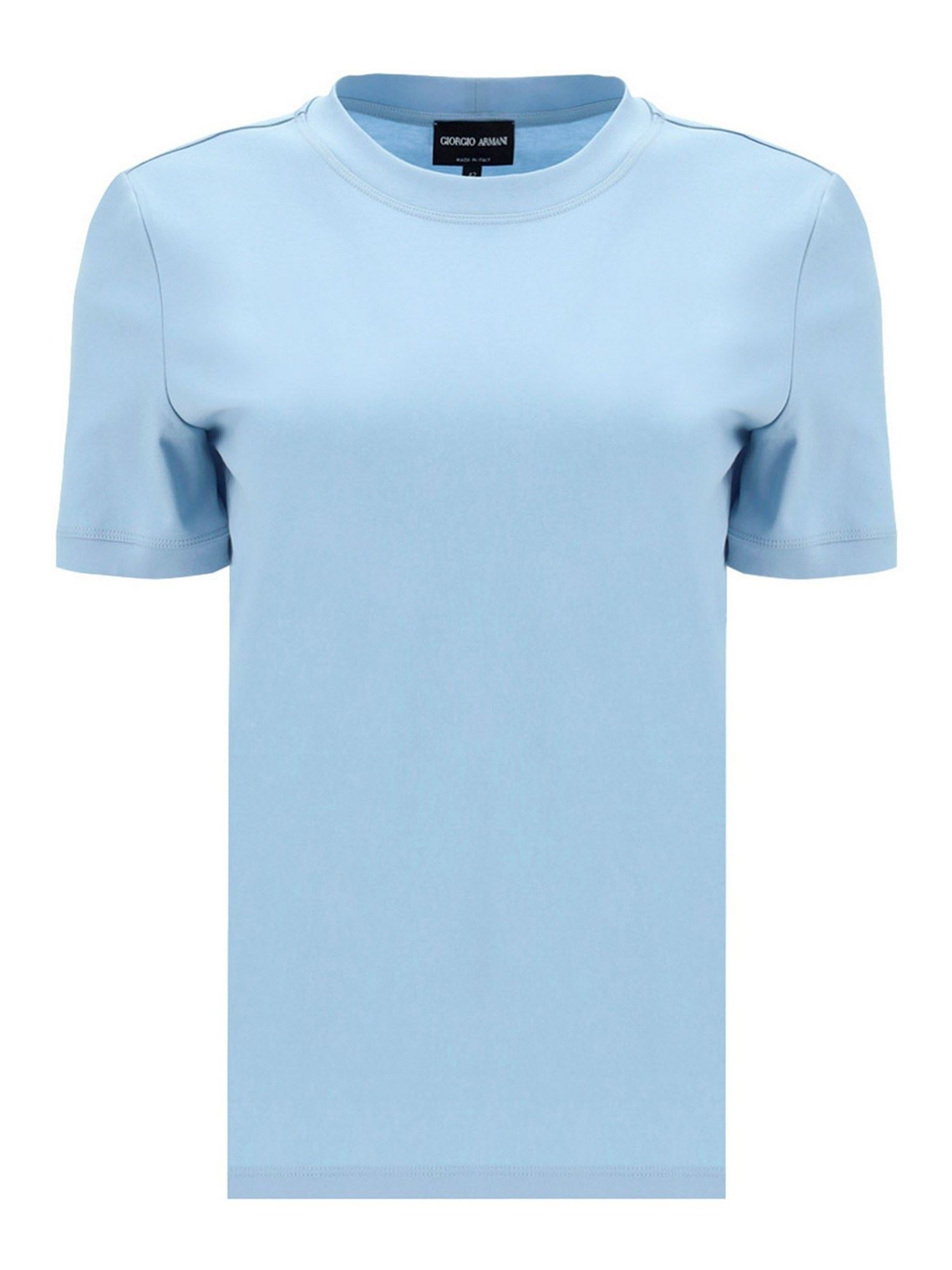 Giorgio Armani Cottons JERSEY T-SHIRT IN LIGHT BLUE