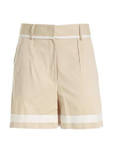 Moschino - Contrasting details shorts in beige