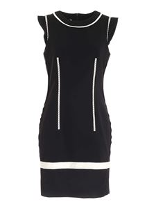 Moschino - Contrasting details dress in black