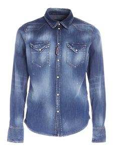 Dsquared2 - Destroyed effect shirt in blue