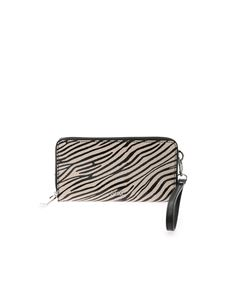 Gum Gianni Chiarini - Zebra print wallet in beige and black