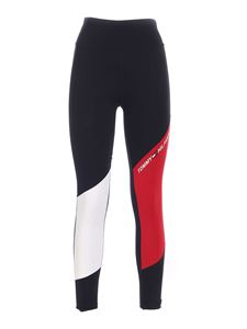 Tommy Hilfiger - Sports leggings in black red and white