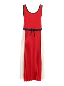 Tommy Hilfiger - Pleated dress in red and white