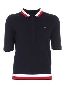 Tommy Hilfiger - Contrasting details polo shirt in blue