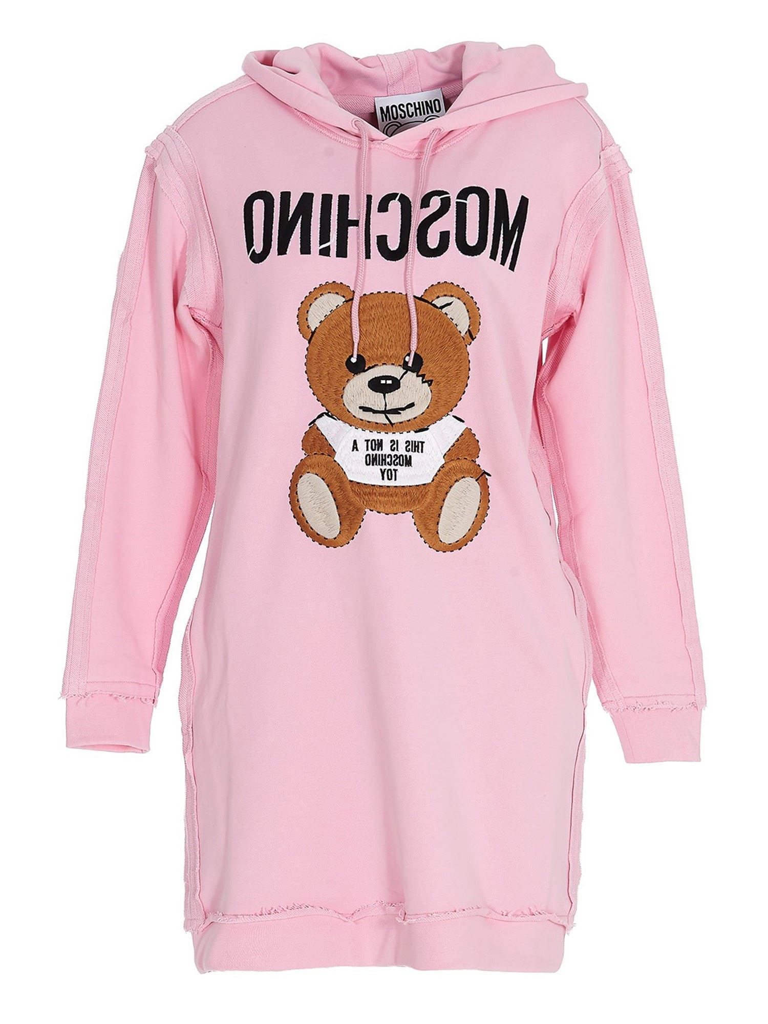 Moschino PINK TEDDY HOODIE IN PINK