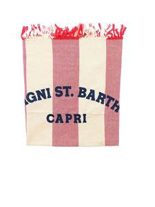 MC2 Saint Barth - Foutas beach towel in red and cream color