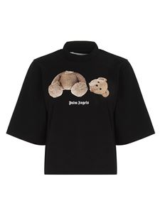 Palm Angels - Cropped Bear T-shirt in black