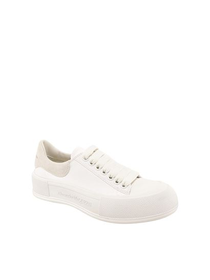 Alexander McQueen - Lace-up sneakers in white